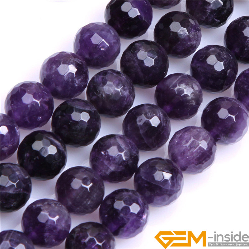 Round Faceted Dream Lace Amethysts,Selectable 8mm 10mm 12mm,Fashion Jewelry Beads For DIY Bracelet Making Strand 15 Inch