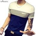 Hombres de la camiseta de moda 2017 patchwork o-cuello crossfit gimnasio mens brand clothing divertido camiseta hip hop ropa divertida nswt3051