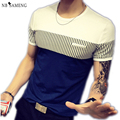 T Shirt Men Fashion 2017 O-Neck Patchwork Fitness Mens Brand Clothing Fun Tshirt Crossfit Hip Hop Funny Clothes NSWT3051