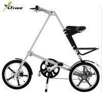 Original X-Front Marke licht Aluminium Legierung faltrad last 110 kg 14 ''/16'' gummi reifen persönlichkeit fahrrad