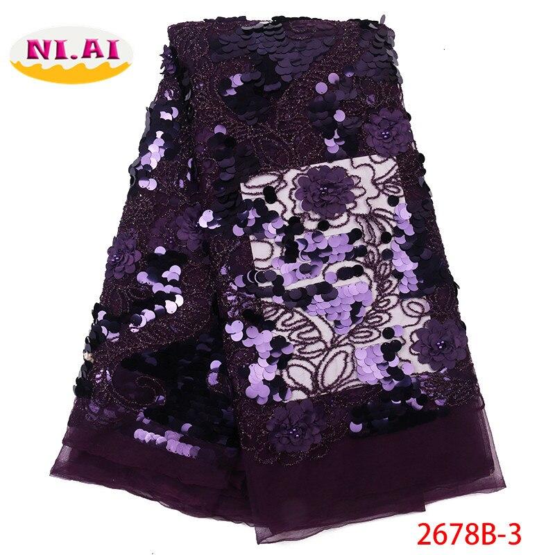 Afryki koronki tkaniny na sprzedaż, nowy haftowany tiul koronka sukienka z tkaniny, 3D cekiny różowy koronki dla pani Mr2678b w Koronka od Dom i ogród na  Grupa 3