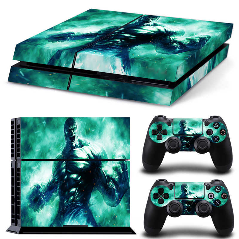 Free drop shipping  Skin for Sony PS4 Console + Two Controllers Skin Sticker  #TN-P4-5382