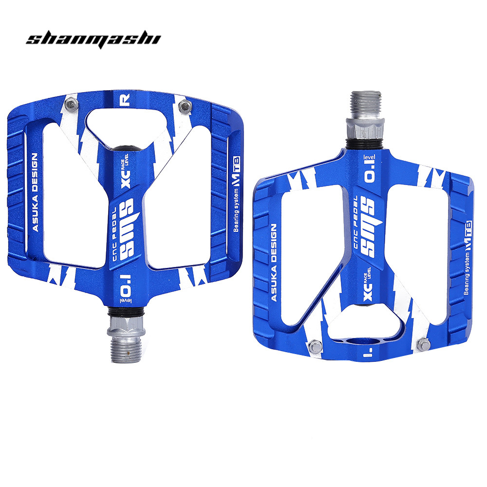 SHANMASHI Paired Outdoor Cycling Road Mountain Bike Bicycle Pedal Aluminum Alloy Big Foot Road Bike Bearing Pedals Bike Parts wosawe new mountain bike bicycle pedal aluminum alloy big foot road bike bearing pedals bicycle bike parts 2 colors