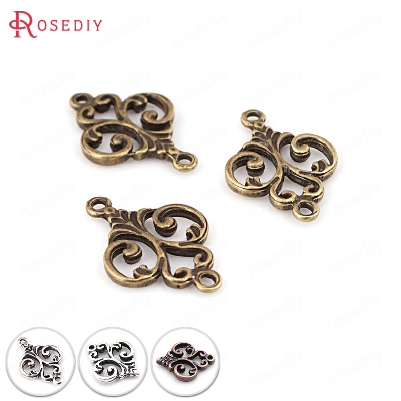 (31704)50PCS 16*13MM Antique Silver Zinc Alloy Modeling Charms Connect Charms Diy Jewelry Findings Accessories Wholesale