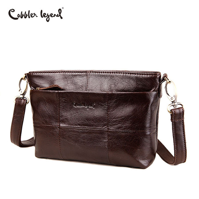 Cobbler Legend Double Pockets Genuine Leather Bag Female Brand Small Women  Handbags For Women Shoulder Crossbody Bag 3 Colors 19654981c0