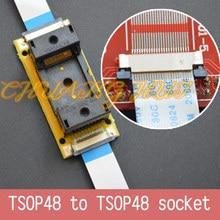 Program Test Original ic191-0482-004 TSOP48 On line test socket SMD welding TSOP48 to TSOP48 test socket Pitch=0.5mm mx29lv640ebti 70g tsop48