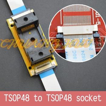 Program Test Original ic191-0482-004 TSOP48 On line test socket SMD welding TSOP48 to TSOP48 test socket Pitch=0.5mm program test new tsop48 on line test socket smd welding tsop48 tsop48 ic socket adapter pitch 0 5mm