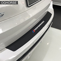 Nowa wydajność gumowe tylny zderzak samochodowy do wykończenia z wycięciami płyta ochronna naklejka ochronna pokrywa ochronna dla BMW X5 G05 2019 akcesoria