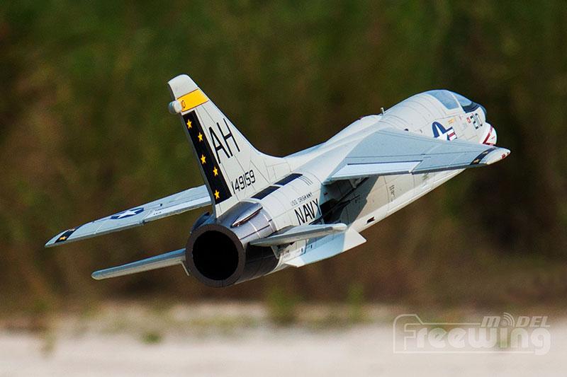 Freewing 64mm F 8E CRUSADER Electric RC Plane