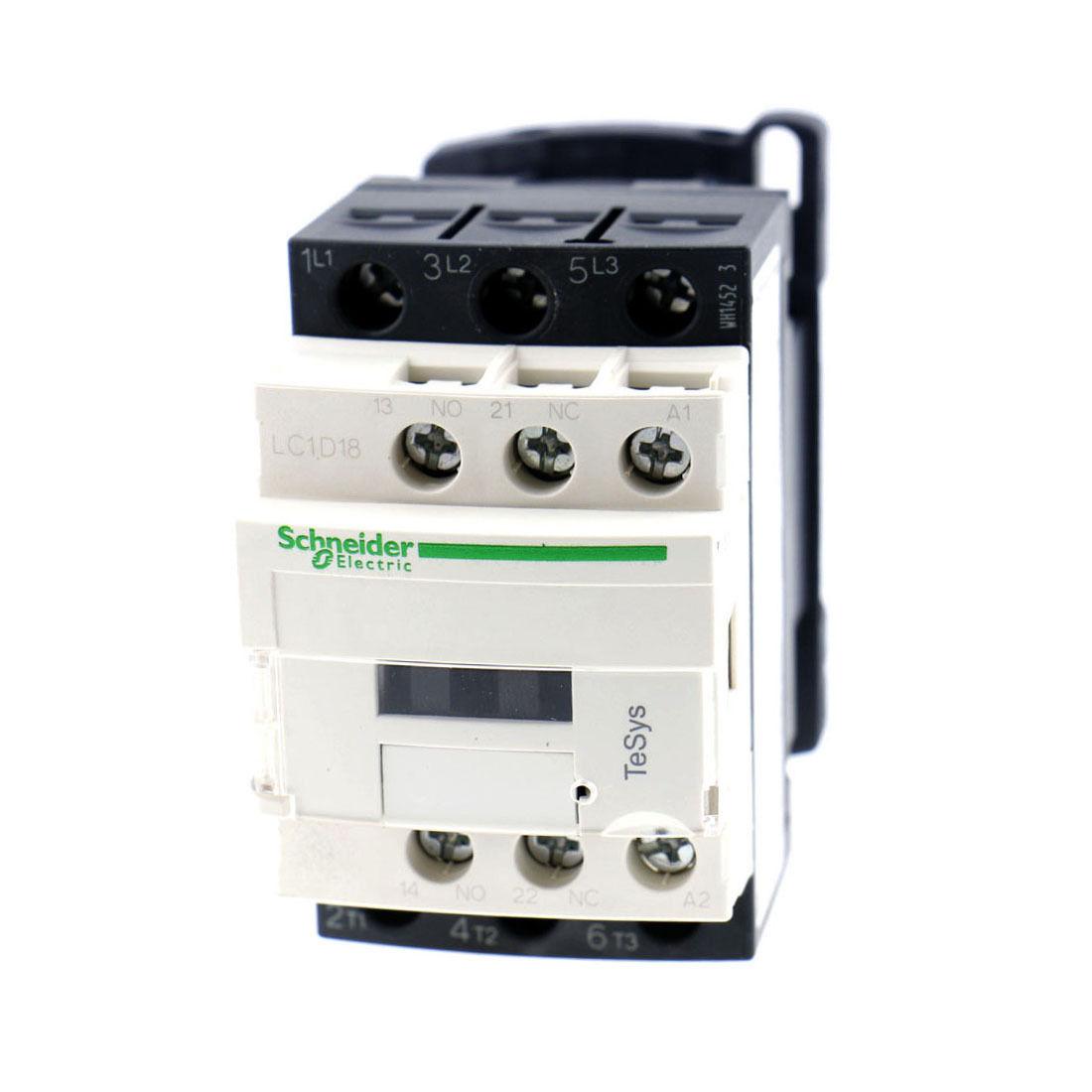 LC1D18 Motor Control AC Contactor 50 Amp 3 Phase 110-120V 50/60Hz Coil  замыкатель ux motor lc1d09 ac 110 50 60 3 nc