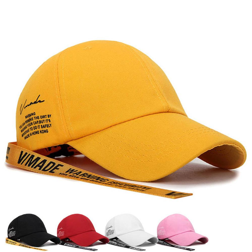 SILFOG New Long Straps   Baseball     Cap   Men Adjustable Streetwear Eembroidery Letter Snapback   Caps   Unisex Cotton Yellow Trucker Hat