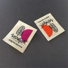 Customized High Density Soft Clothing Main Label Damask Woven Label Name Label customized brand woven label high density