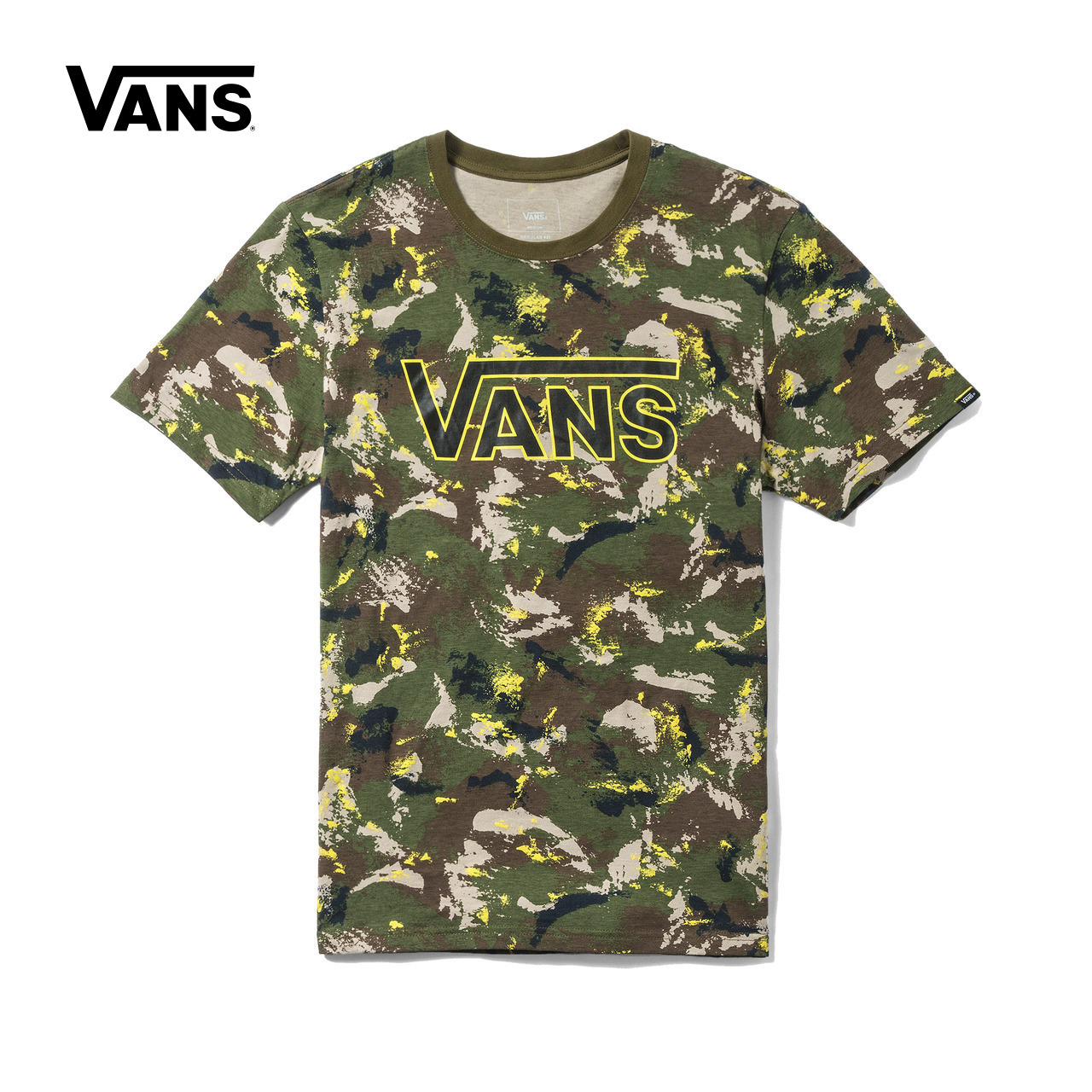 Original New Arrival Vans Men's Printed T Shirt O-neck Short Sleeve Cotton Skateboarding Tops Tees Sport Outdoor VN0A3DCVPTM stylish round neck printed short sleeve men s t shirt