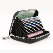 RFID Genuine Leather Credit Card Holders Organ Female Card Holder Wallet Women Business Cardholder Organizer Men Purse rfid 36 card slots genuine leather women card holders large capacity credit card holder wallet female business card holders bag