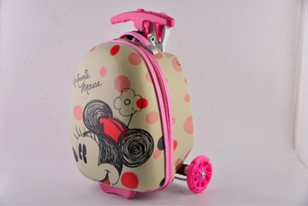 CARRYLOVE Cute cartoon, gift for children sports scooter luggage backpack rolling luggage business travel boarding suitcase
