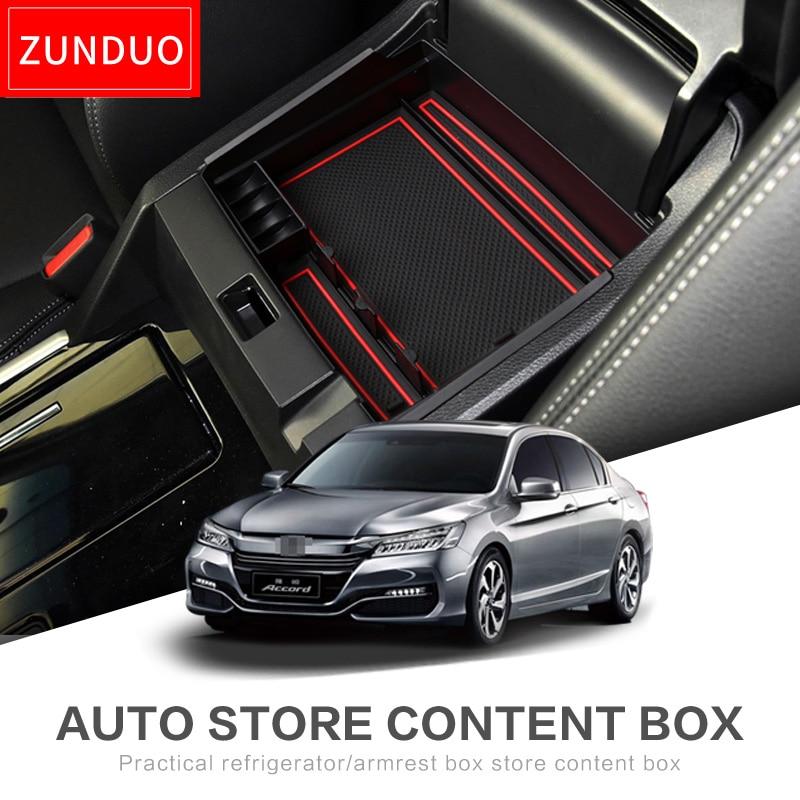 ZUNDUO font b Car b font Central Armrest Box font b storage b font box For