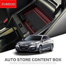 Zunduo автомобиля центральный подлокотник ящик для хранения для Honda accord9 9.5 2014-2016 Салонные аксессуары Средства ухода для автомобиля