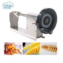 ITOP Manual Stainless Steel Potato Machine Twisted Slicer Spiral Vegetable Cutter French Fry Cutting Tool