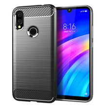 for xiaomi redmi 7 case silicone carbon fiber mobile cell phone soft cases