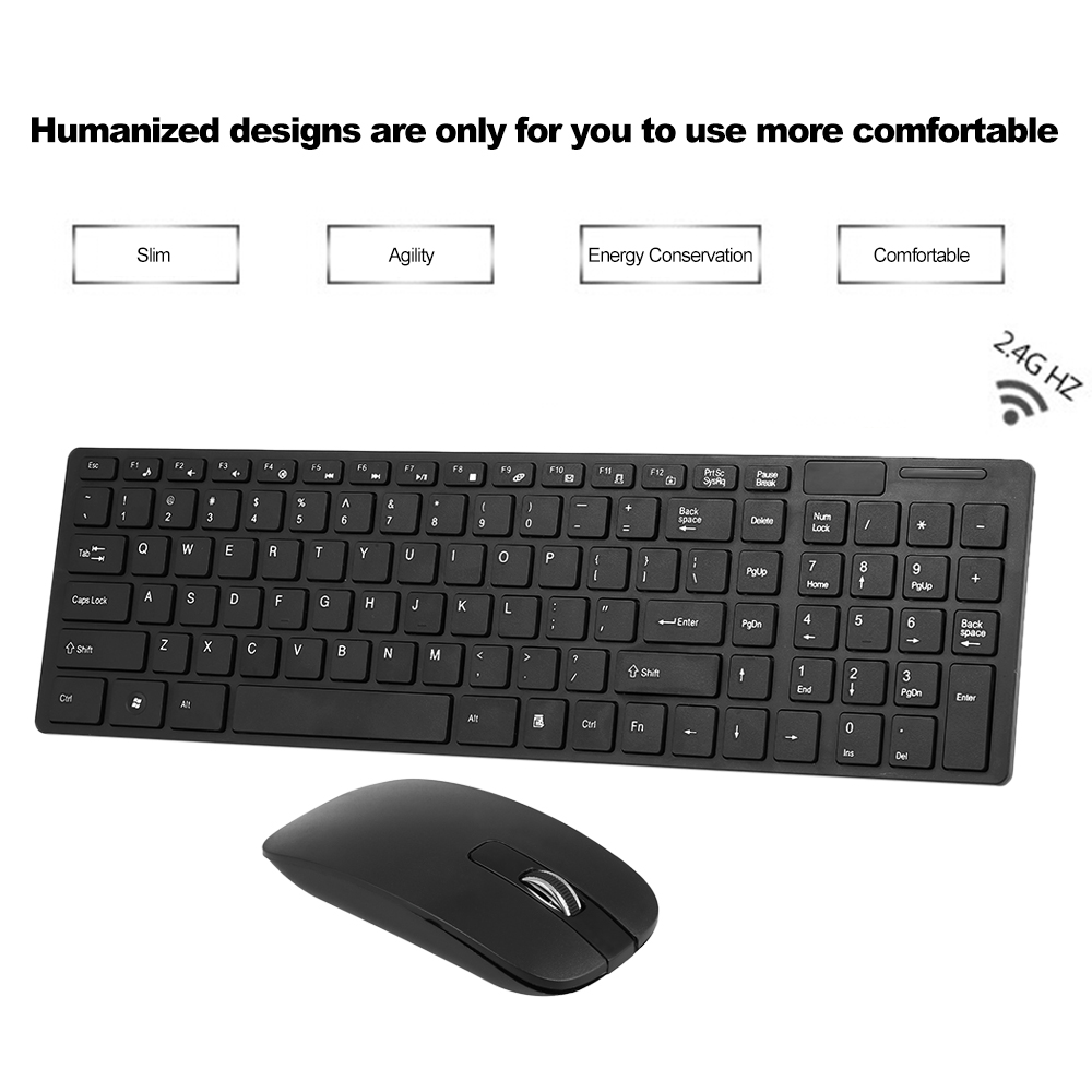 buy portable slim 2 4g wireless keyboard and mouse combo computer keyboard. Black Bedroom Furniture Sets. Home Design Ideas