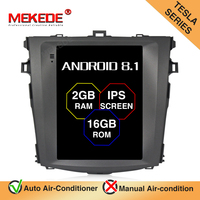 MEKEDE DSP Android 9.0 Tesla style IPS scree Car GPS Navigation audio player For Toyota Corolla 2008 2013 radio stereo NO DVD
