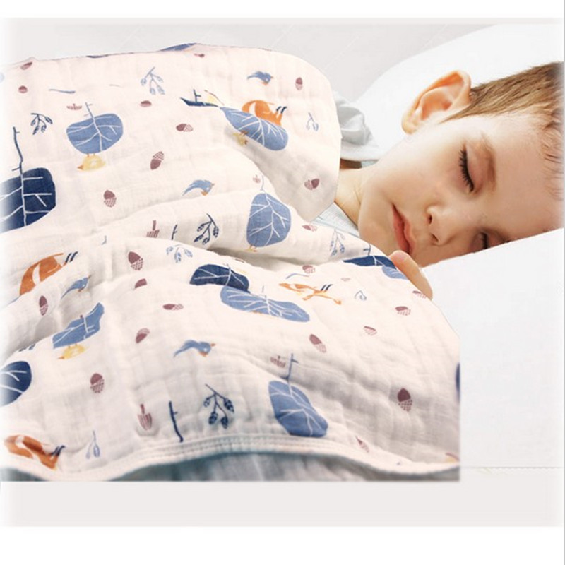अडामेंट चींटी शरद ऋतु नवजात शिशु की आपूर्ति करता है बेबी धुंध कंबल 100% मसलिन कपास 8layers लेबल 720g के साथ मोटा होना