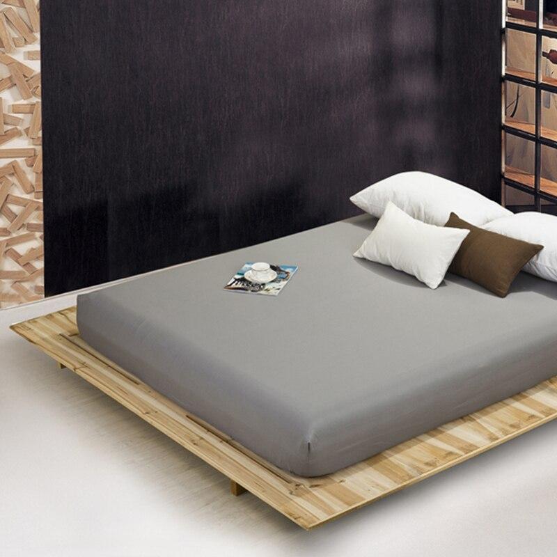 Drap housse housse matelas couleur unie ponçage literie draps de lit avec bande élastique Double Queen taille drap de lit 180X200CM