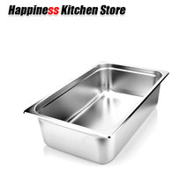 6pcs Kitchen Tools 1/1 STAINLESS STEEL STEAM TABLE FOOD PAN COMMERCIAL BIG 53*32.5CM WITH LID