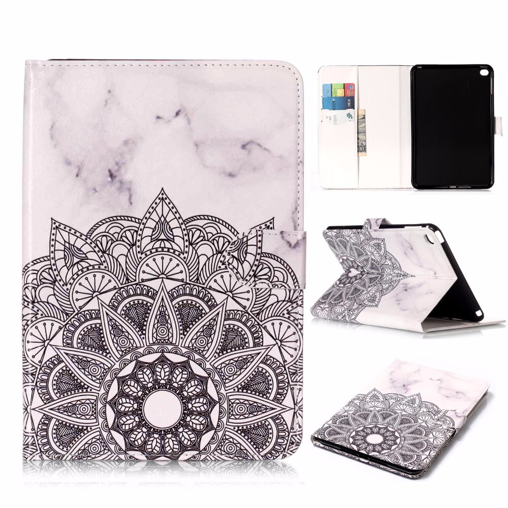 Painted Pattern Pu Leather 7.9For ipad Mini 4 Case For Apple ipad Mini 4 A1538 A1550 Tablet Cover Case