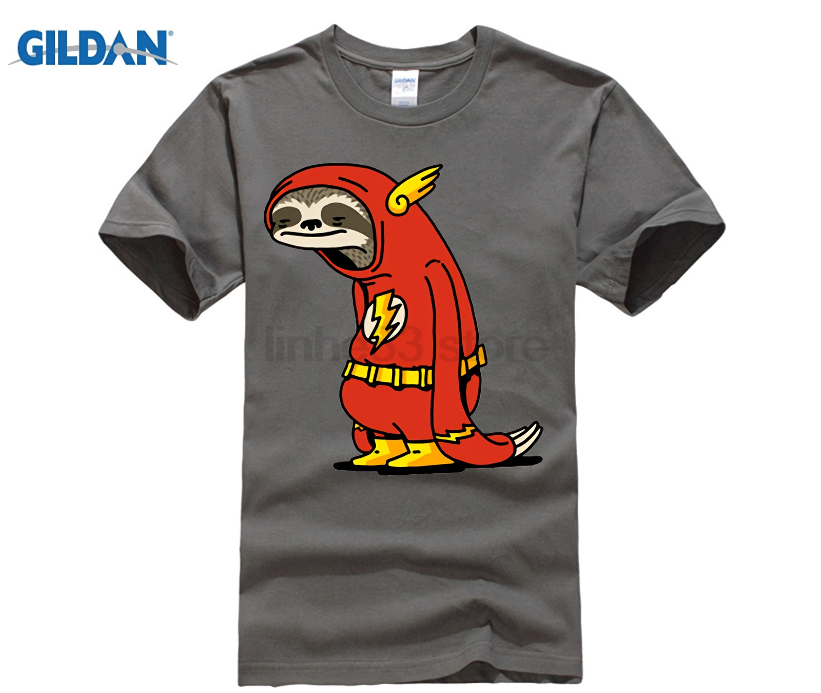 01456bcf Funny Sloth The Flash T shirts men The Neutral T shirt male super hero Red Sloth  tshirt harajuku Tops 100% cotton Tees camisetas-in T-Shirts from Men's ...