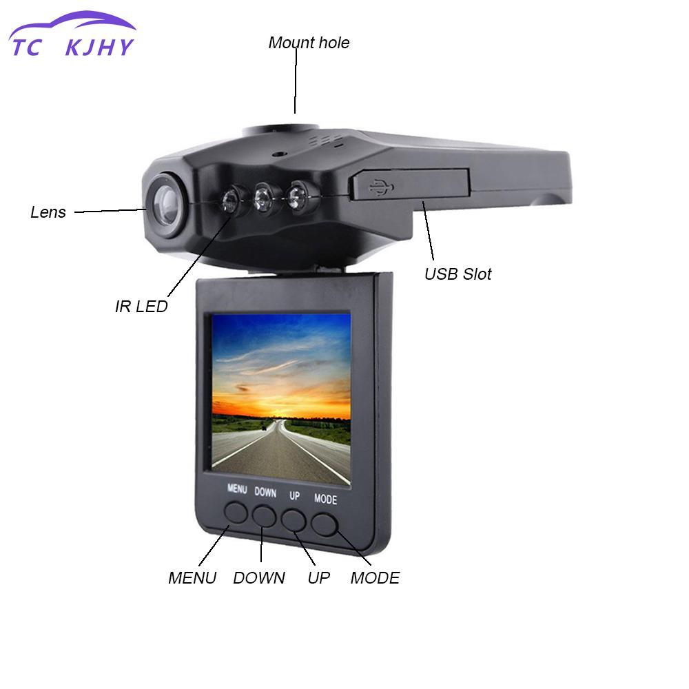 "2.5/"" LCD Vehicle Car Camera HD DVR Dashboard Recorder 6IR LED 270 Degrees Rotate"