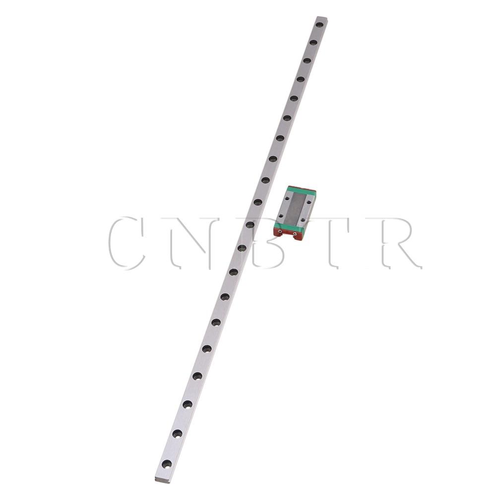 CNBTR 400mm Length Bearing Steel Linear Sliding Guide Slide Rails & MGN9 Linear Extension Block for CNC 3D Printer