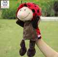 Infant Children Hand Puppet Ladybug Beetle kids baby plush Stuffed Toy Puppets toys Christmas birthday gift