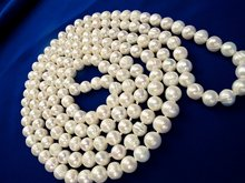 Freshwater Pearl Necklace 60 inches AA Grade 8-9mm natural White Knotted Long Beaded Off Round excellent luster Genuine Real(China)