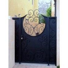 По изготовлению просечно-вытяжной сетки для ворот Дом металлический передний для дверей, ворот с железными воротами дизайн ограждения и ворота hench-g3