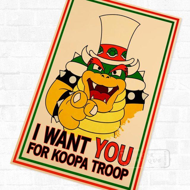 Online Shop Super Mario Bros Vintage Video Games Propaganda Poster ...