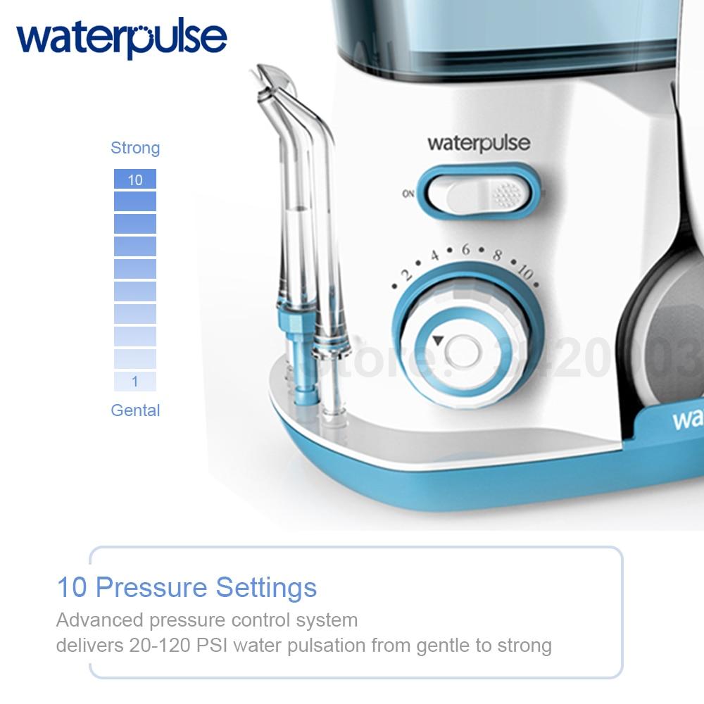 Waterpulse V300G Oral Irrigator 5pcs Tips Dental Water Flosser Electric Cleaner 800ml Oral Hygiene Dental Flosser Water Flossing 3