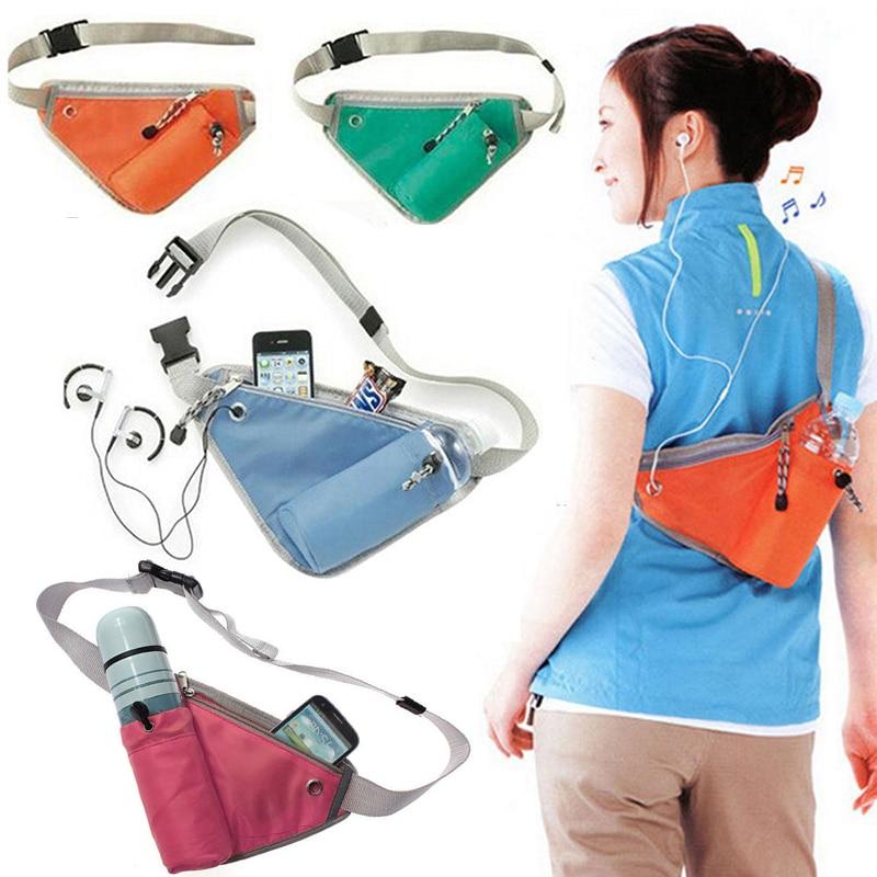 Multi-functional Waist Water Bottle Bag Triangle Sport Outdoor Waist Packs Hiking Cycling Running Belt Water Bottle Waist Bag