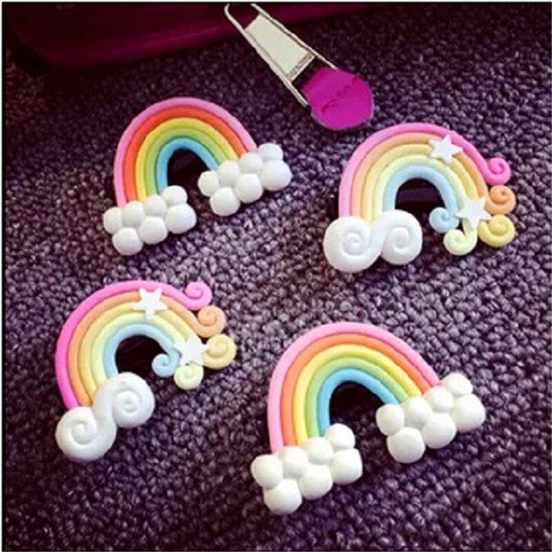 2016 Fashion 4Pcs/lot Rainbow Hair Clip s