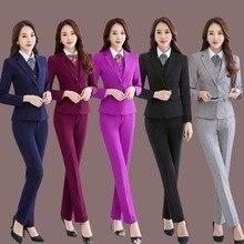 Ms  New Self-cultivation Multicolor No hot Jacket pants business suit