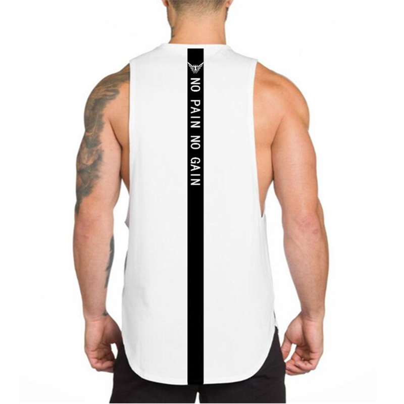 Brand Fitness Clothing Men's Summer Sports Running Vest No Pain No Gain Gym Bodybuilding Tank Top Men Jogging Sleeveless Shirt
