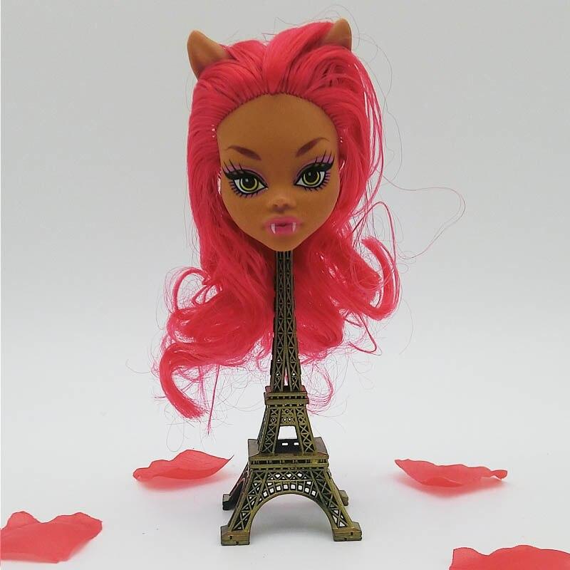 Детские игрушки демон монстр куклы голова с фиолетовый красный волос DIY кукла Интимные аксессуары для Monster High Куклы головки для 1/6 BJD куклы до...