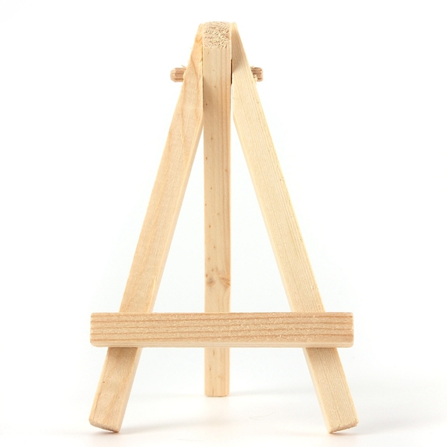 5PCS Mini Wood Artist Easel Wedding Number Place Name Card Stand ...
