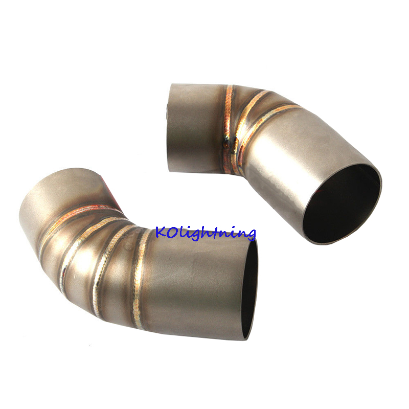 Motorcycle Exhaust Middle Mid Pipe Stainless Steel Connect Link Tubes Midpiece Slip on for Ducati Monster 696 695 795 796 1100 in Exhaust Exhaust Systems from Automobiles Motorcycles