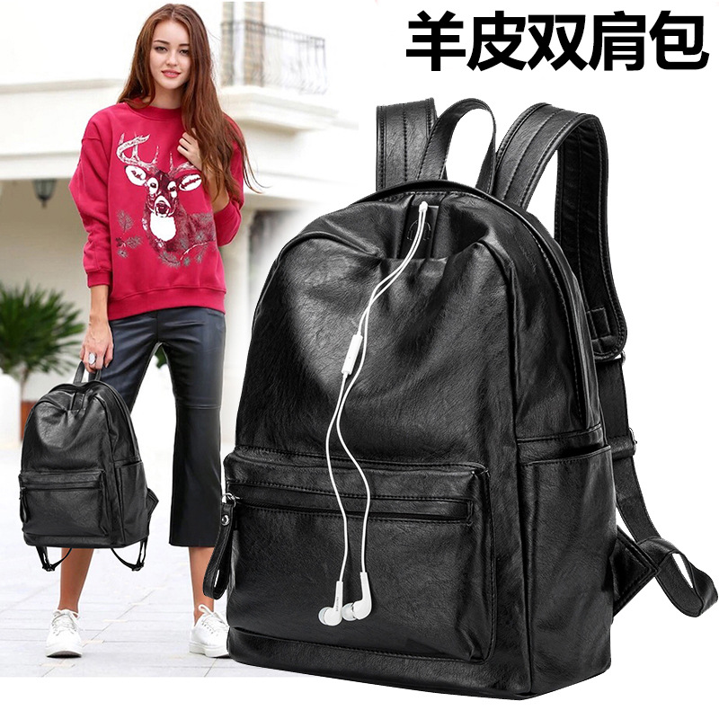 Fashion Women Backpacks Genuine Leather School Bags for Teenage Girls Designer Shoulder Bags Female Backpack