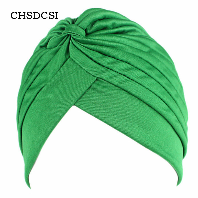 Newly Fashion Women's Hats Stretchy Turban Head Wrap Hats Sleep Hat Chemo Bandana Hijab Pleated Cap for Girls Gorros Hombre M062 womensdate 19 color indian cap for women turban hats women s head wrap band hat beanies stretchy chemo bandana hijab 1pcs
