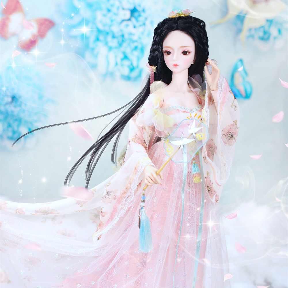 1/3 bjd куклы 62 см Совместное тела куклы белая кожа черные волосы с Одежда Обувь головной убор, без вентилятора, AI YoSD MSD SD комплект игрушка DC