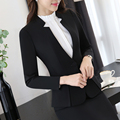 Spring Autumn Two pieces Suits Ladies Formal Skirt Suit Office Uniform Style Female Business Suit For Work Women Blazer Set