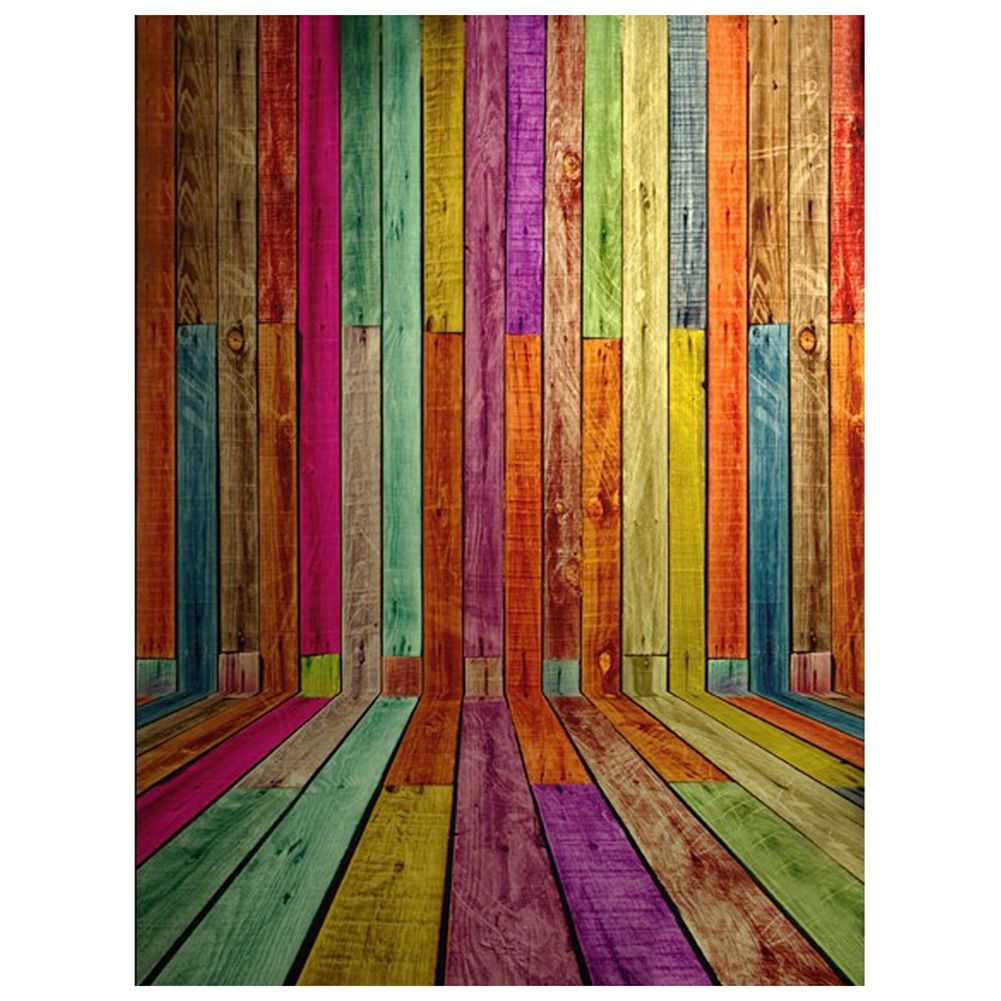 3x5ft Colorful Photography Backdrops Photo Wooden Wall Floor Background Studio Props