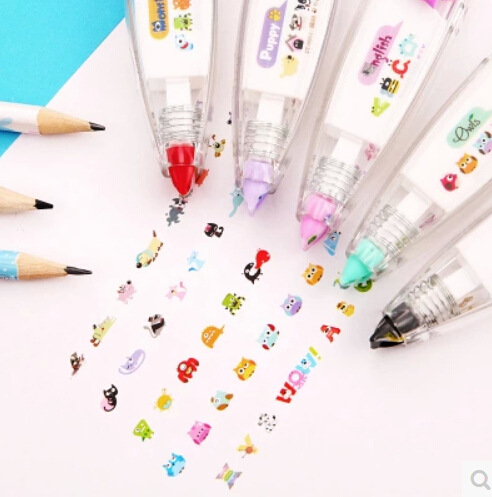 New Lace Deco Correction Tape Cute Animal Tapes For Letter Book DIY Corretivo Escolar Fita Stationery School Supplies